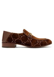 Gucci GG Supreme logo-jacquard velvet loafers