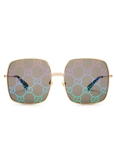87124bdfa03 Gucci Metal-Trim Diamantissima Cat-Eye Sunglasses Tortoiseshell ...
