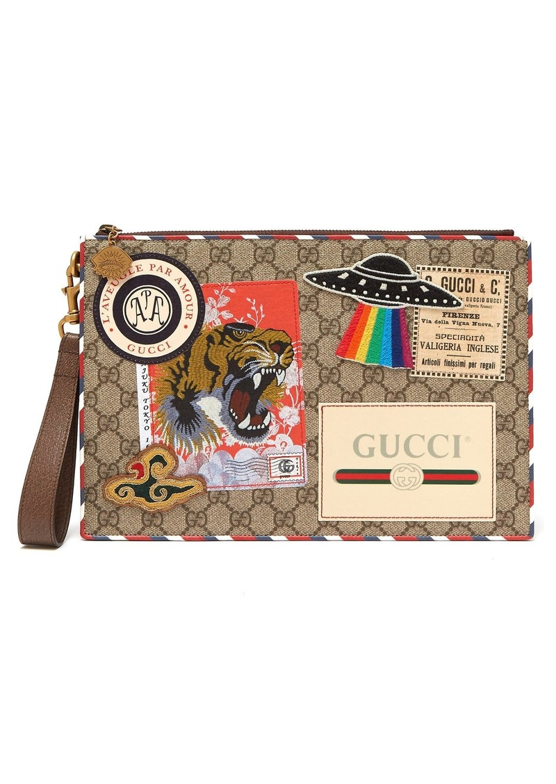 1c33f8bb89e7 Gucci Gucci GG Supreme patch coated-canvas pouch | Bags
