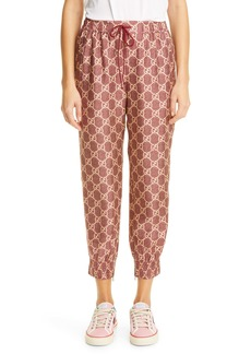 Gucci GG Supreme Print Silk Crop Joggers