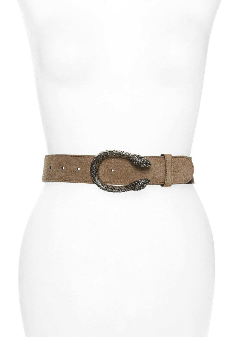 GucciTiger Head Spur Buckle Belt