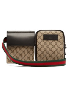 Gucci GG Supreme Web-striped belt bag