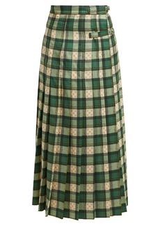 Gucci GG tartan wool maxi skirt