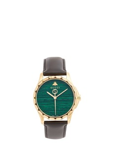 Gucci GG-Timeless green-stone watch
