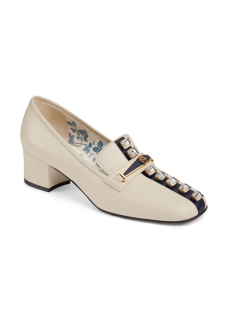 210a5effb Gucci Gucci Ginger Crystal Embellished Loafer Pump (Women) | Shoes ...