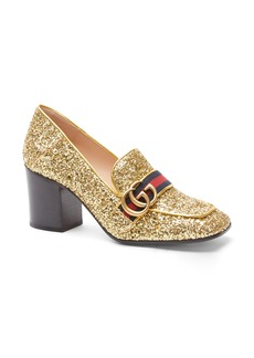 Gucci Glitter Peyton Loafer Pump (Women)