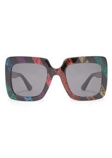 Gucci Glitter square acetate sunglasses