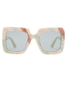 Gucci Glitter stripe square-frame sunglasses