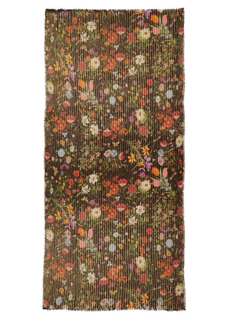 Gucci Golden Flora Pleated Stole