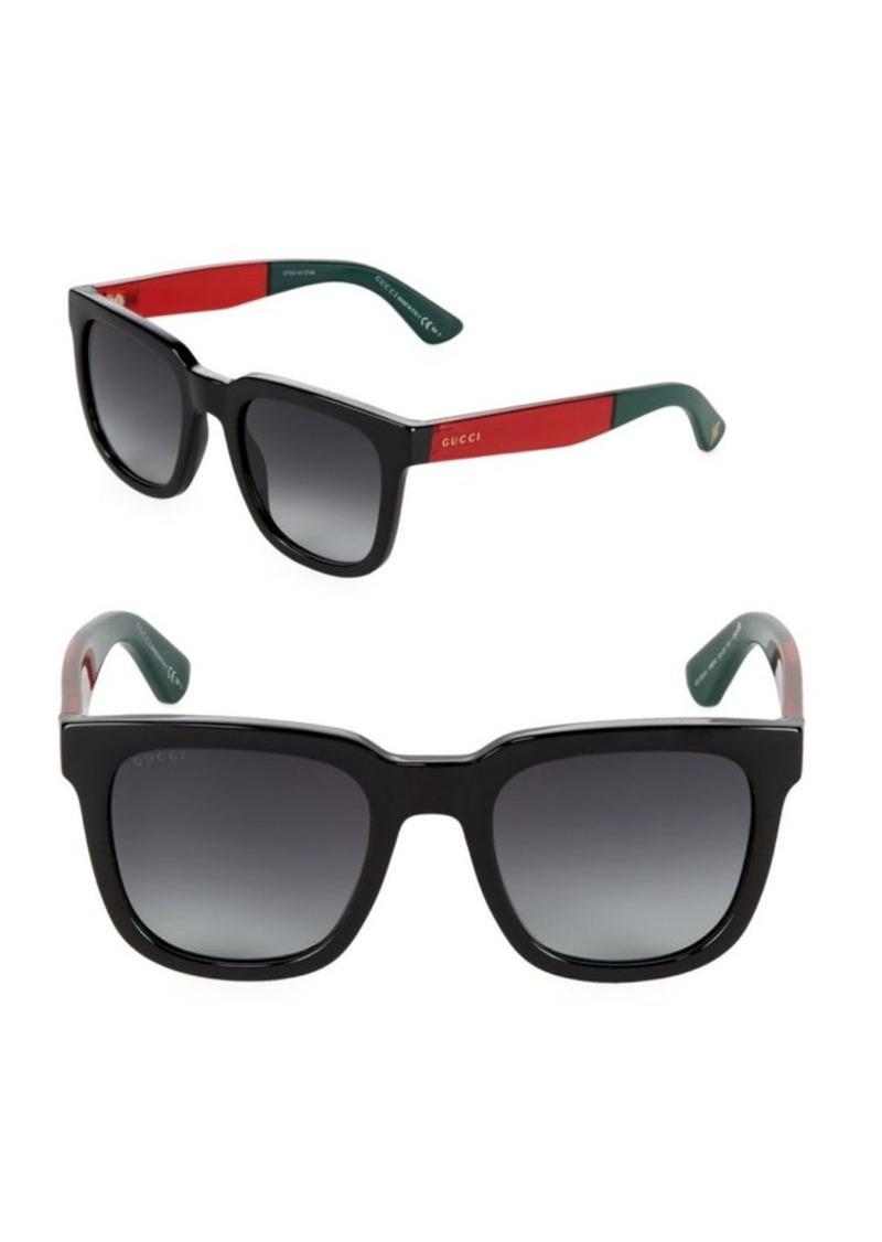 1d6524b2f3816 On Sale today! Gucci Gucci Gradient 52MM Wayfarer Sunglasses
