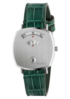 Gucci Grip Genuine Alligator Strap Watch, 35mm