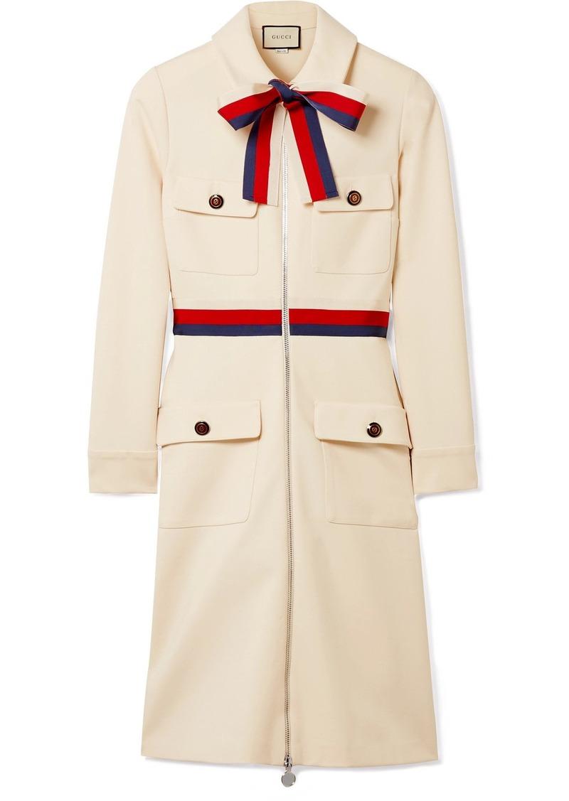 f7ecfaffd Gucci Grosgrain-trimmed Jersey Mini Dress | Dresses