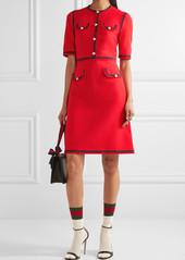 6f6a4225b Gucci Grosgrain-trimmed wool and silk-blend cady mini dress | Dresses