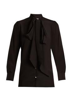 Gucci Grotesque Garden-print silk crepe de Chine blouse
