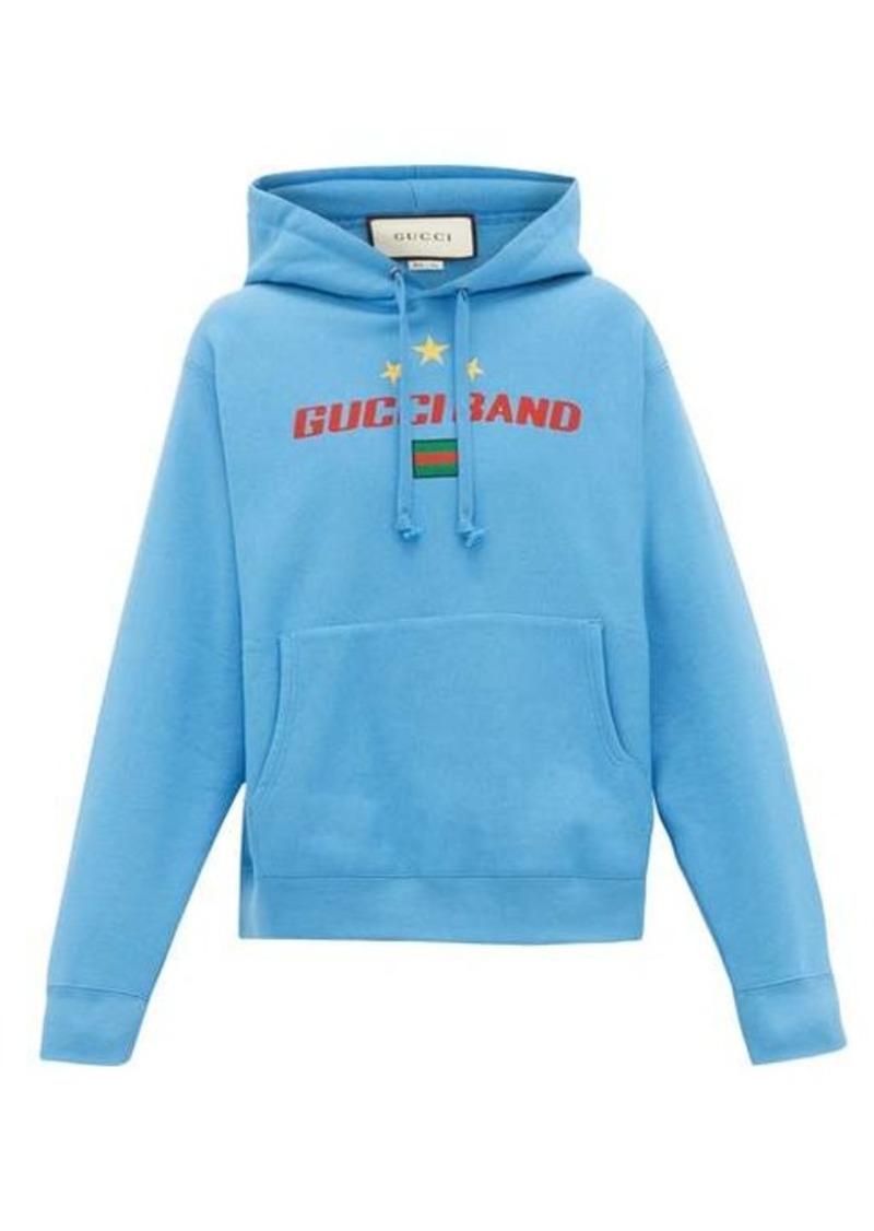Gucci Gucci Band-logo cotton hooded sweatshirt