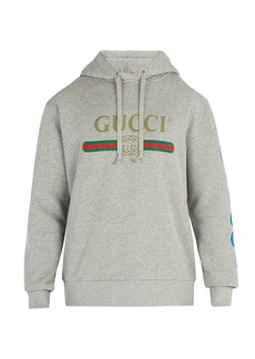 Gucci Gucci dragon and logo hooded sweatshirt