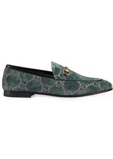 Gucci Gucci Jordaan GG velvet loafers - Blue
