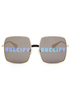 Gucci Guccify square metal sunglasses