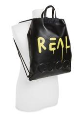 ea2d25b8f75e0c Gucci GucciGhost Drawstring Leather Backpack Gucci GucciGhost Drawstring  Leather Backpack