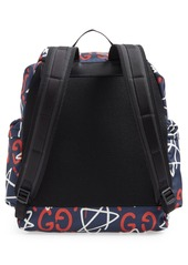Gucci GucciGhost Writers Flap Backpack