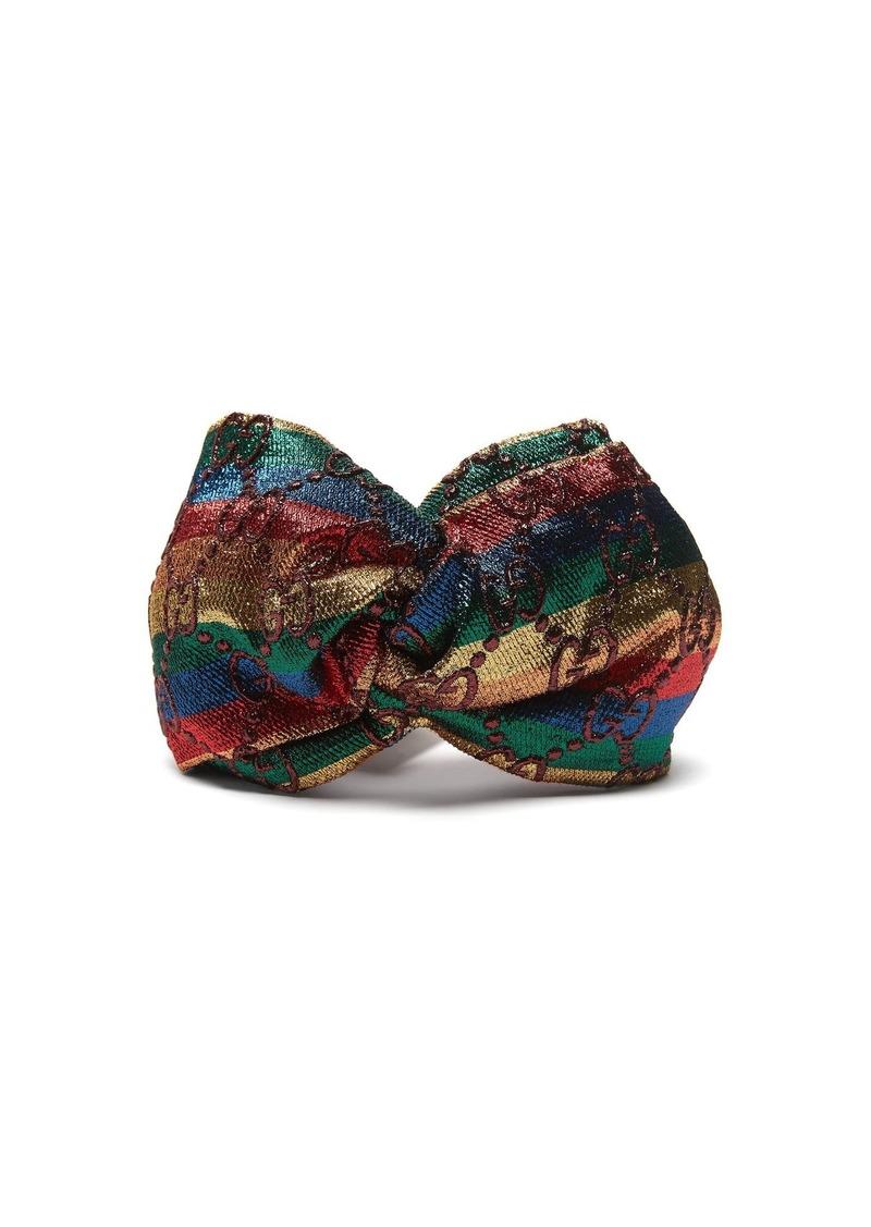 Gucci Gucci Guccilux logo-jacquard Lurex turban headband  10862081b22
