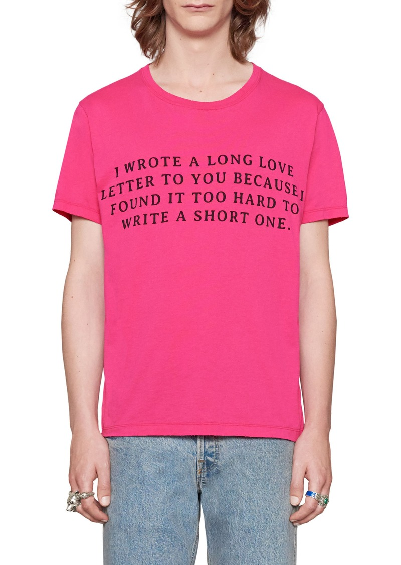 83c9a292 Gucci Gucci Guccy Love Letter Graphic T-Shirt | T Shirts