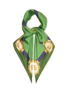 Gucci Harness-print silk-twill scarf