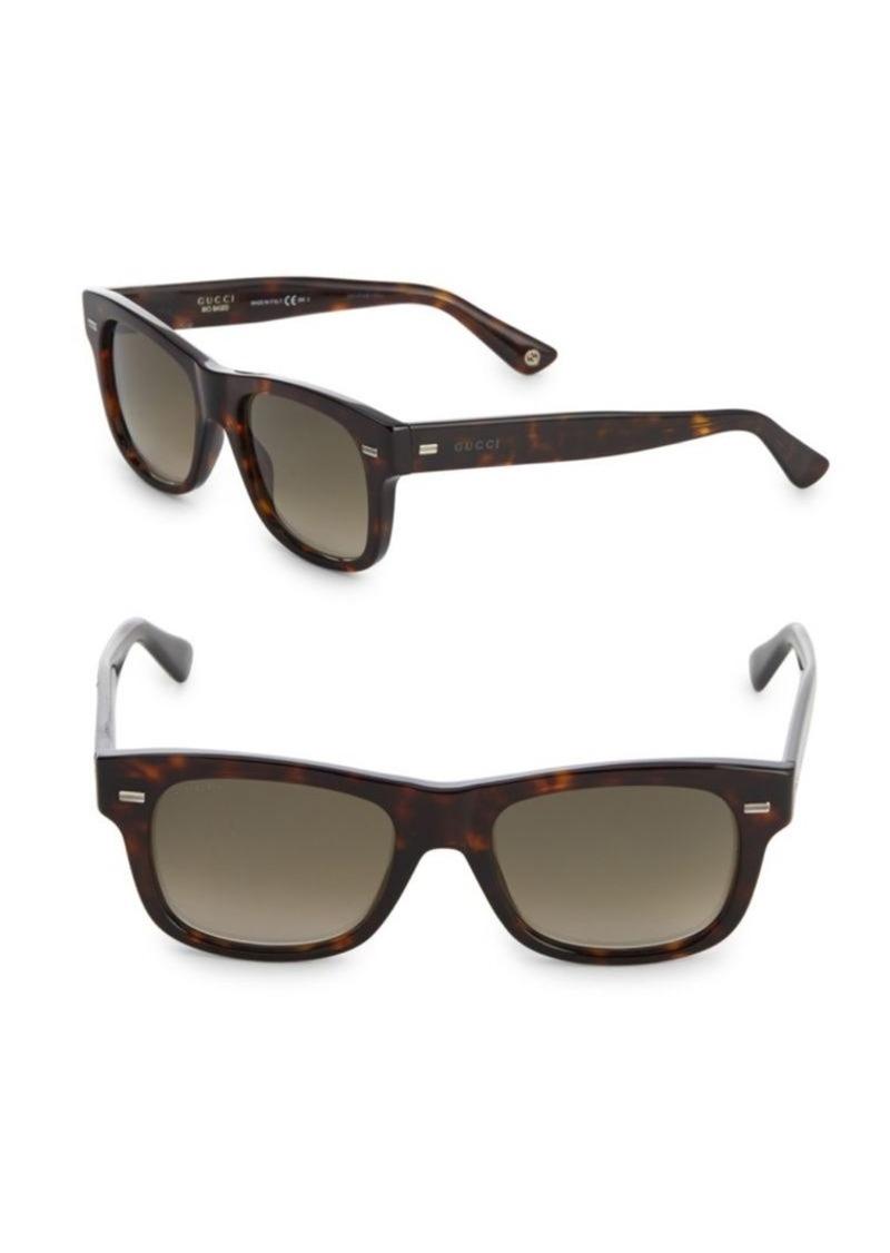 d8ef5bd73ce Gucci Havana 52MM Tortoiseshell Square Sunglasses