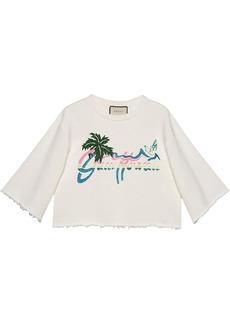 Gucci Hawaii cropped sweatshirt
