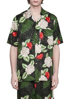 Gucci Hawaiian Dream Short Sleeve Button-Up Shirt
