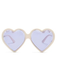 Gucci Heart acetate sunglasses