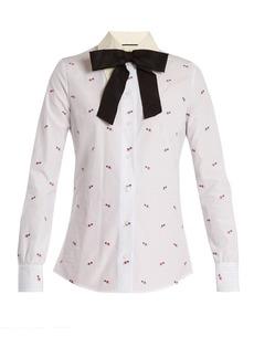 Gucci Heart fil coupé cotton shirt