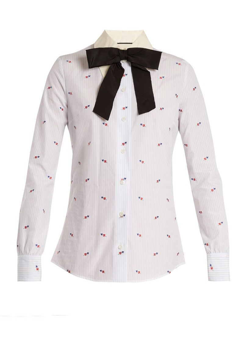 70855409b Gucci Gucci Heart fil coupé cotton shirt | Casual Shirts