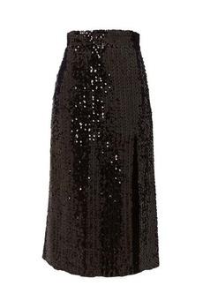 Gucci Hem-slit sequinned midi skirt