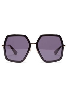 Gucci Hexagon acetate sunglasses