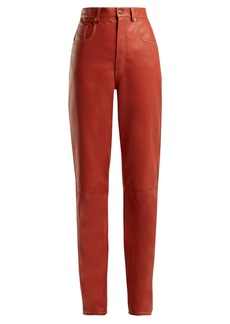 Gucci High-rise leather trousers