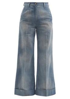 Gucci High-rise wide-leg jeans