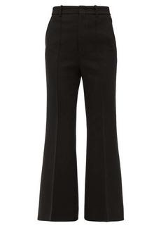 Gucci High-rise wool-blend flared trousers
