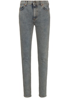 Gucci high waisted logo print skinny jeans