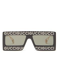 Gucci Hollywood Forever embellished sunglasses