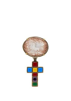 Gucci Horse and cross brooch