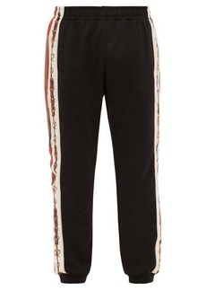 Gucci Horsebit chain-print track pants