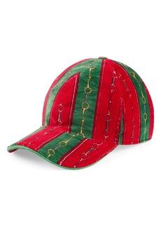 Gucci Horsebit Chenille Baseball Cap