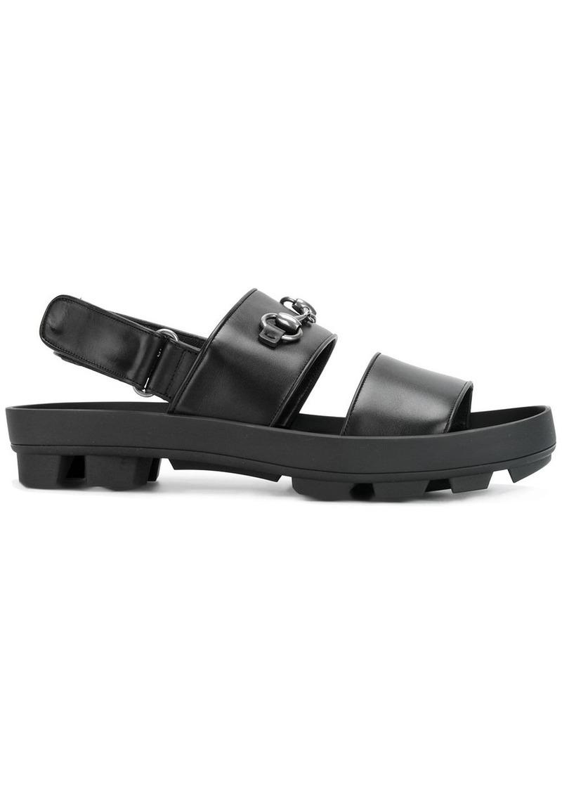 902ff4b8a68 Gucci horsebit detail sandals