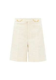 Gucci Horsebit-embellished cotton-blend tweed shorts