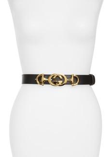 Gucci Horsebit GG Leather Belt