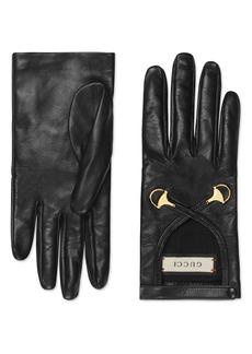 Gucci Horsebit Nappa Leather Gloves