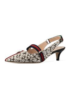 212e6e7f83a Gucci Gucci Usagi 55mm Leather Slide Pumps Black