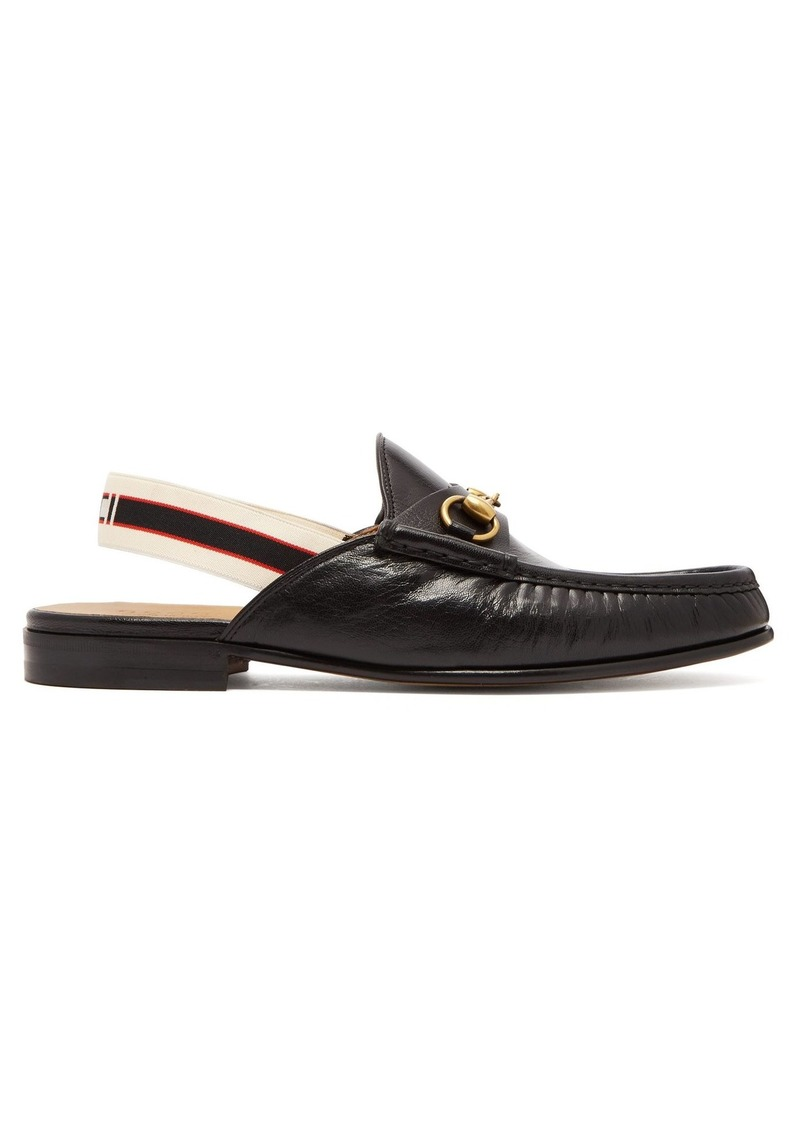 0c6197be2ed Gucci Gucci Horsebit slingback-strap backless leather loafers