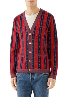 Gucci Horsebit Stripe Cardigan